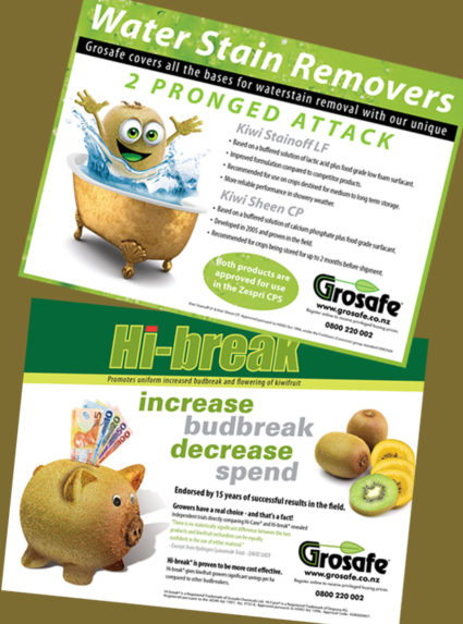 Grosafe Kiwifruit Journal Advertisements