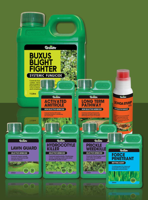 Grosafe Garden Herbicide Spray Range Packaging
