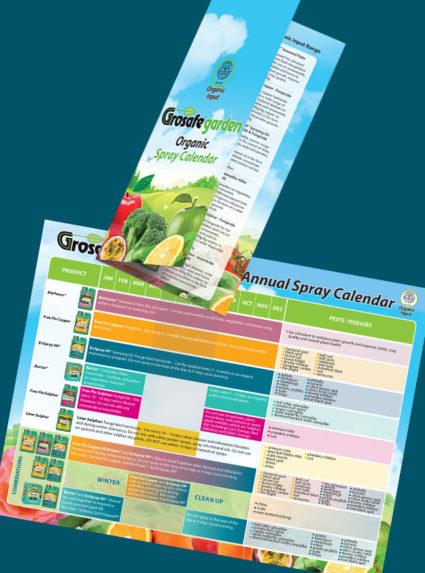 Grosafe Garden Organic Spray Calendar