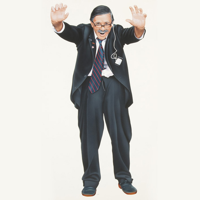 The Comedy Company Board Game Uncle Arthur Illustration