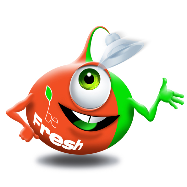 Be Fresh Character Basil Befresh Illustration