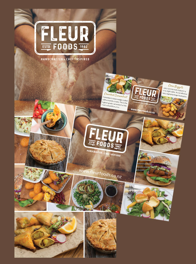 Fleur Foods Pullup Banner, Trade Show Banner & Magazine Advertisement