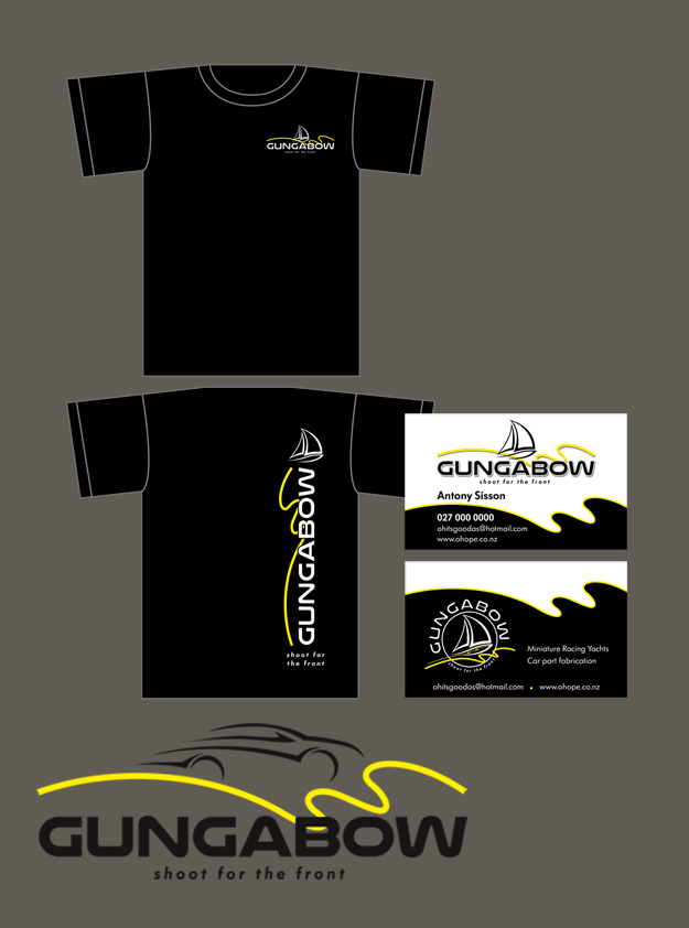 Gungabow Logo, T-shirt Design & Business Card