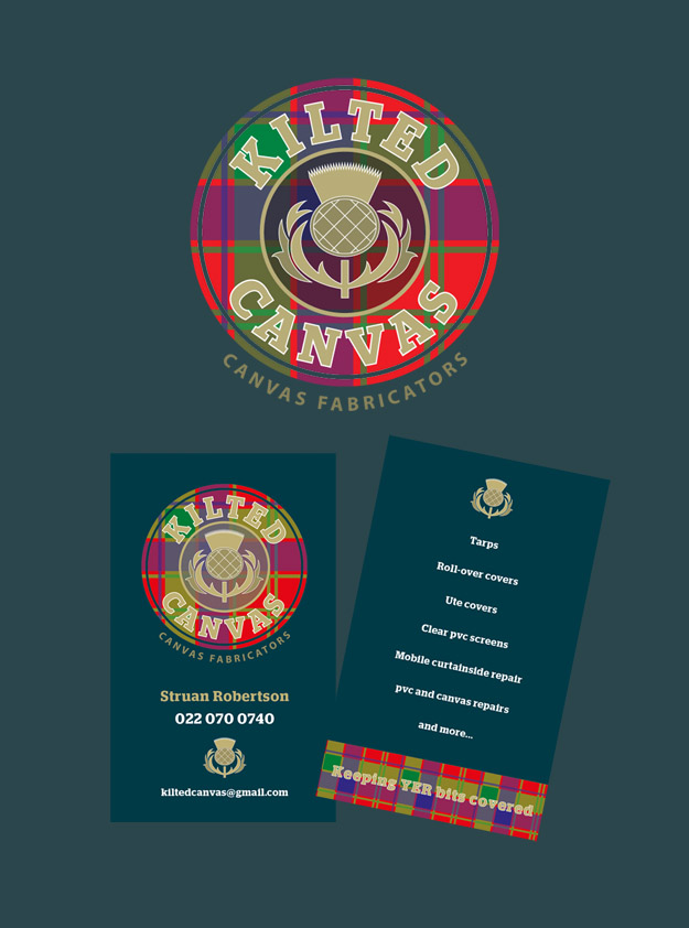 Kilted Canvas Logo & Business Card