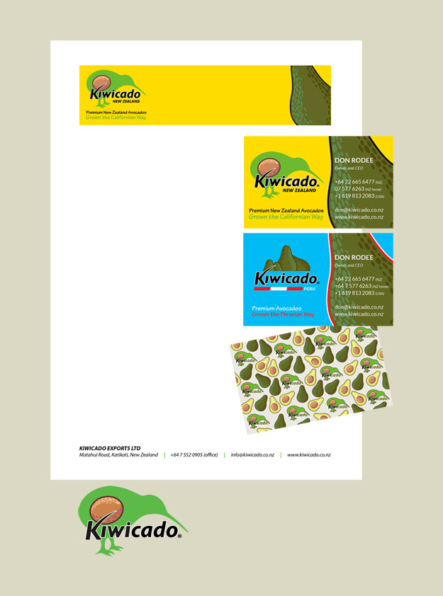 Kiwicado Logo, Letterhead & Business Card