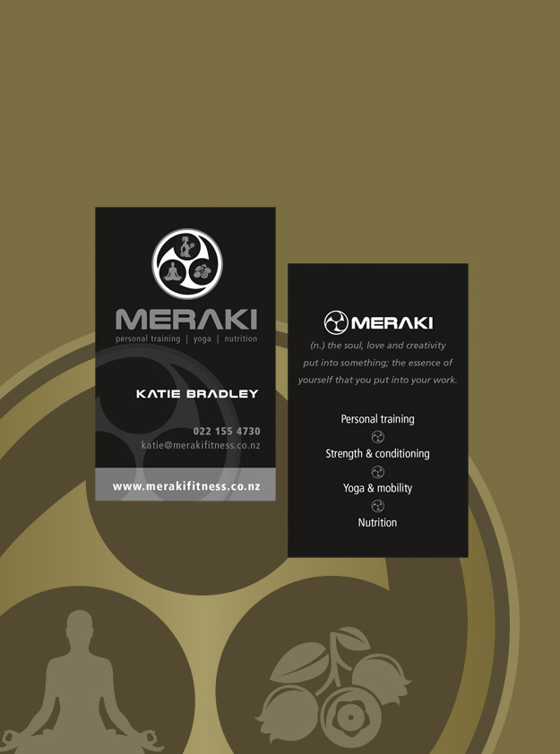 Meraki Fitness Business Card