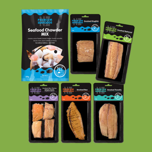NZ Permium Seafood Packaging Range
