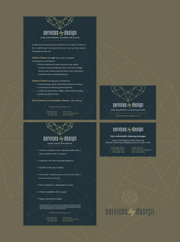 Services by Design Logo, Flyer & Business Card