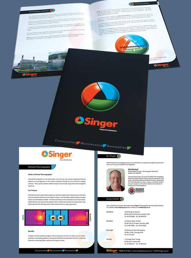 Singer Corporate Brochure & Services Flyer
