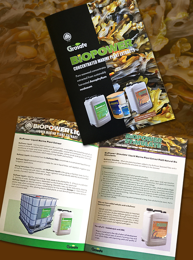 Grosafe BioPower Seaweed products brochure