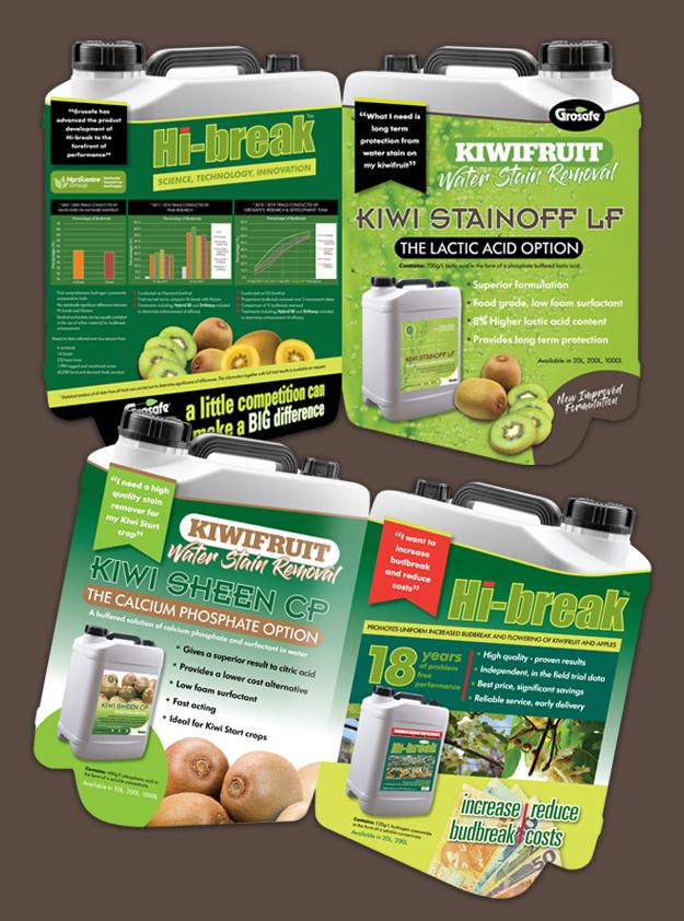 Grosafe 4page Kiwifruit Journal advertising insert